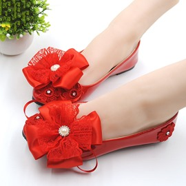 Ericdress Lace Bowtie Wedding Shoes