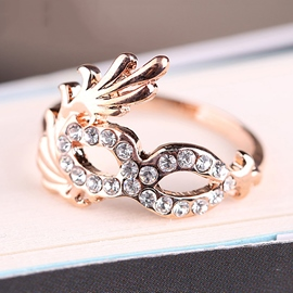 Unique Mask Shaped Alloy Ring