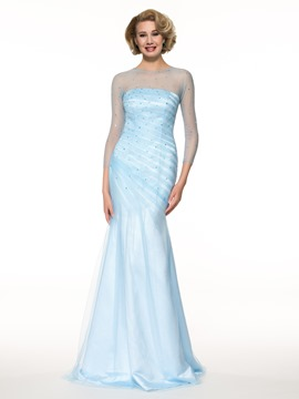 Ericdress Amazing Jewel 3/4 Length Sleeves Mermaid Mother of the Bride Dress