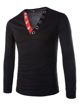 Ericdress V-Neck Pullover Men's T-Shirt