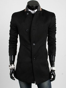 Ericdress Stand Collar Men's Wool Coat