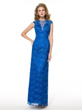 Ericdress Elegant Jewel Lace Long Mother of the Bride Dress