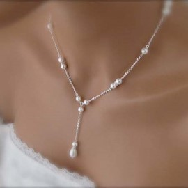 Pure Pearl Decorated Concise Necklace