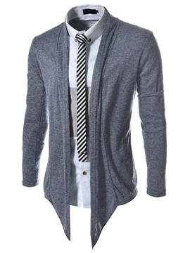 Ericdress Solid Color Cardigan Men's Sweater