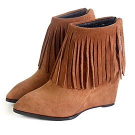 Ericdress Amazing Wedge Heel Ankle Boots with Tassels