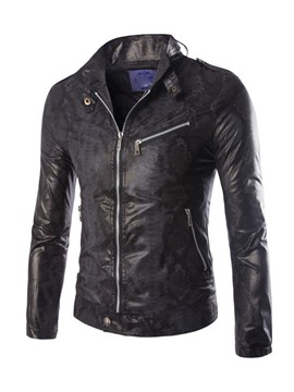 Ericdress Zip Stand Collar Men's Jacket