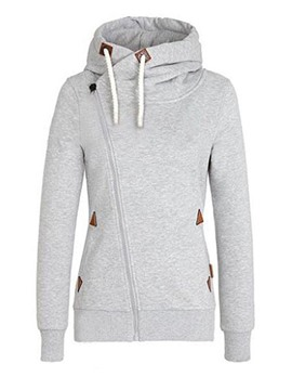 Ericdress Stand Collar Zipper Cool Hoodie