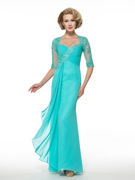 Ericdress Elegant Half Sleeves Long Mother of the Bride Dress