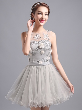 Ericdress Chic Appliques Ruffles Sequins Homecoming Dress