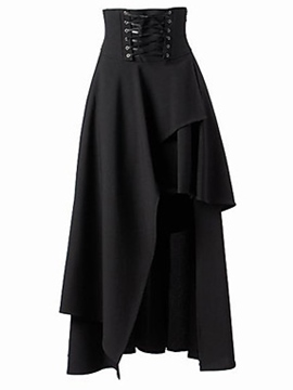 Ericdress Asymmetric Vintage Skirt