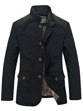 Ericdress Stand Collar Zip Men's Jacket