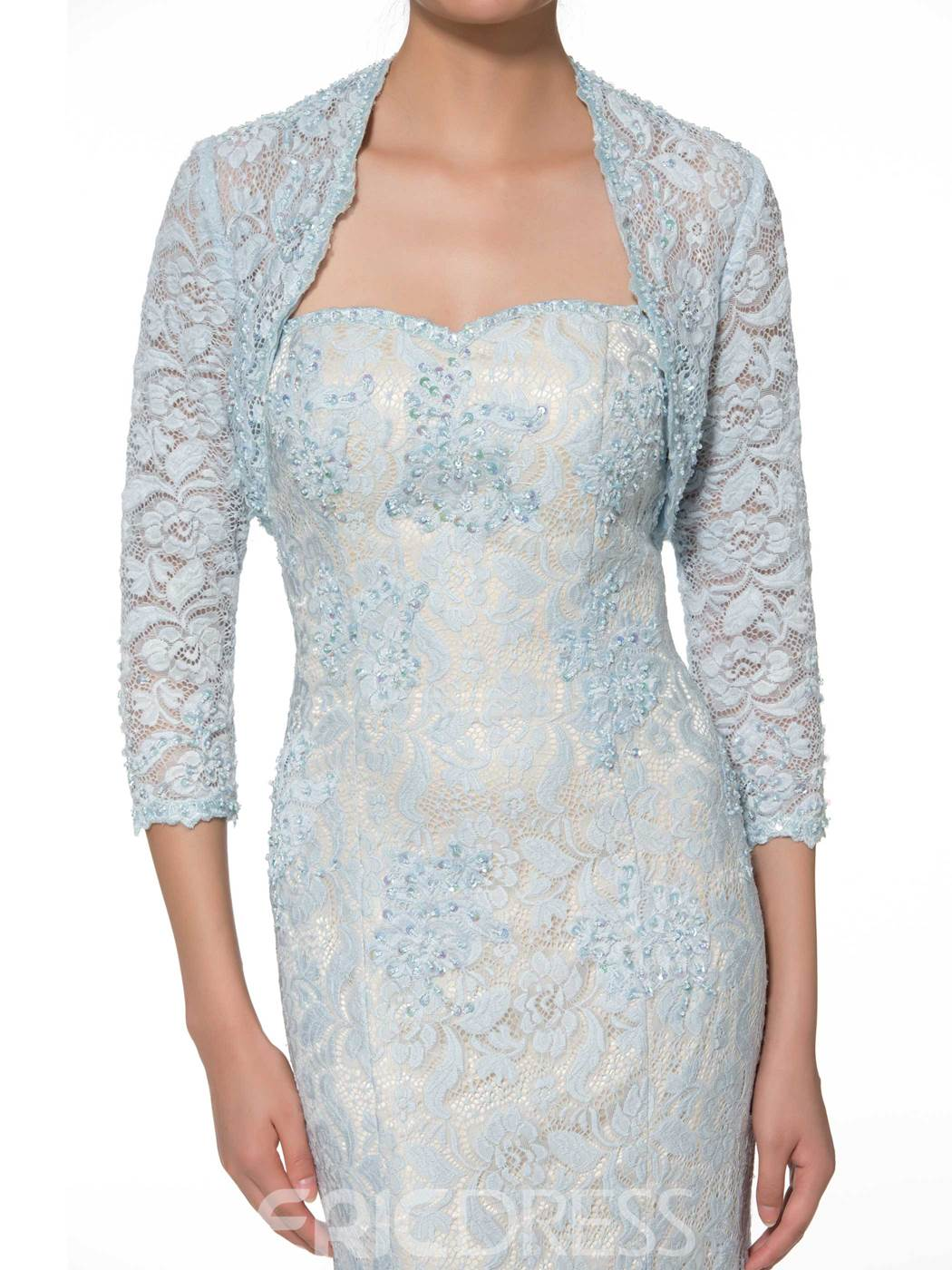 Ericdress Fancy Sweetheart Mermaid Lace Mother of the Bride Dress with Jacket