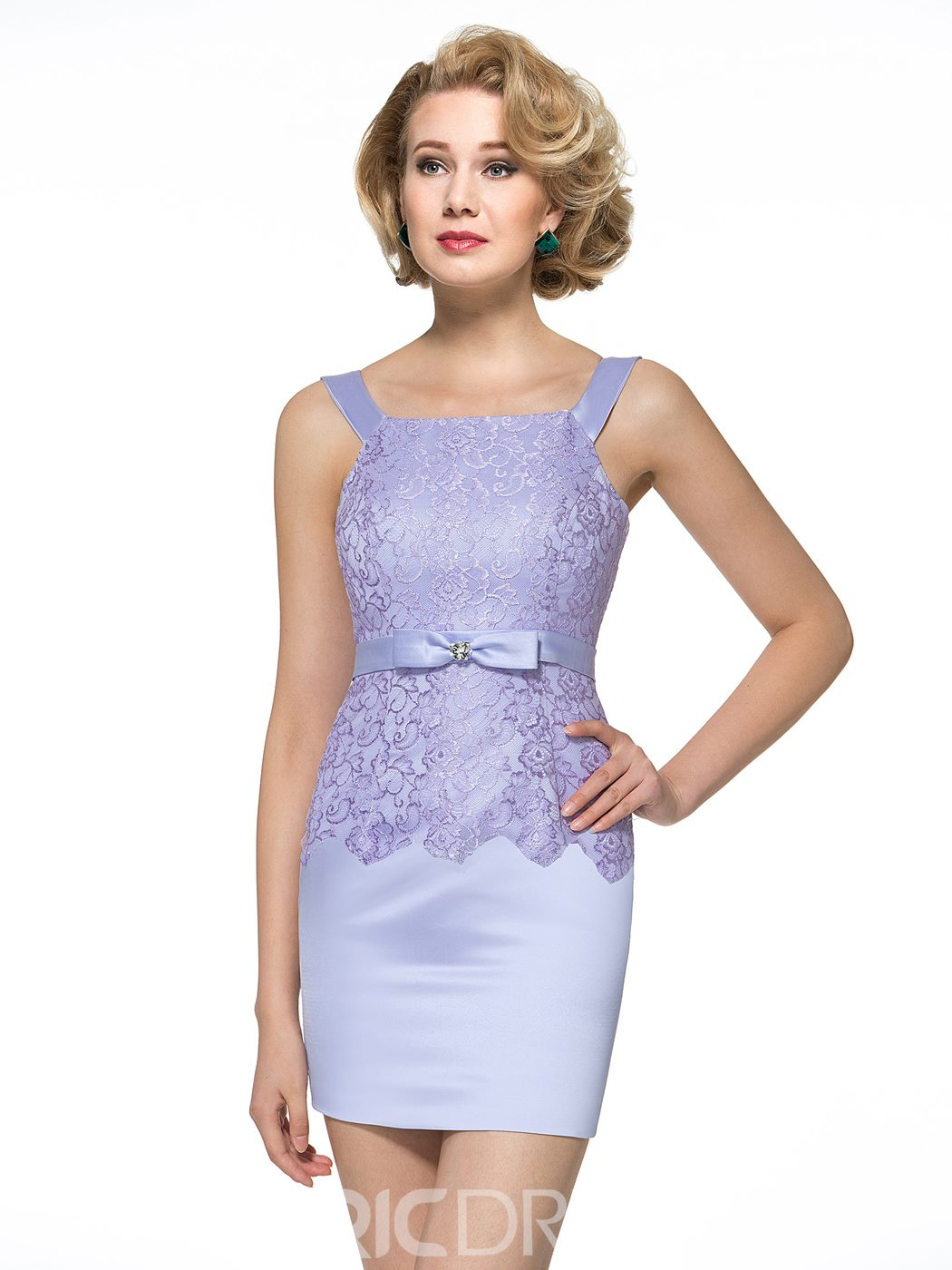 Ericdress Charming Straps Sheath Short Mother of the Bride Dress with Jacket