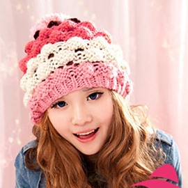 Colorful Woolen Yarn Cute Knitted Hat
