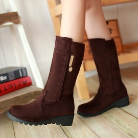 Ericdress Chic Suede Mid-calf Flat Boots