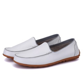 Ericdress Solid Color Slip on Moccasin-Gommino