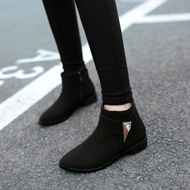 Ericdress Suede Buckles Decoration Ankle Boots