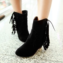 Ericdress Sweet Girl Fringe Decoration Ankle Boots
