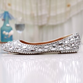 Ericdress White Crystal Wedding Shoes