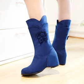 Ericdress Special Flower Decorated Flat Boots