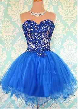 Ericdress Sweetheart a-line Mini Homecoming Spitzenkleid