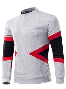 Ericdress Fall Color Block Pullover Long Sleeve Men's Hoodie