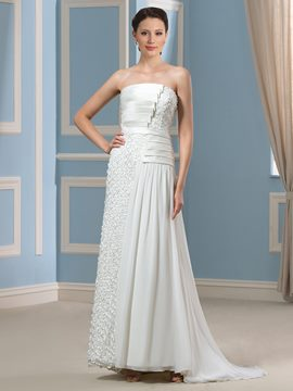 Ericdress Beautiful Strapless Lace Wedding Dress