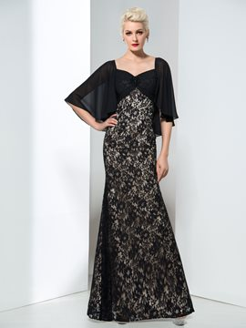 Ericdress A-Line Straps Lace Evening Dress