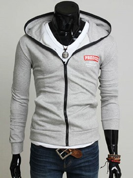 Ericdress Zip Hooded Casual Men's Hoodie