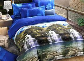Ericdress Mountain and Flowing Water Print 3D Bedding Sets