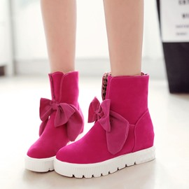 Ericdress Sweet Bowknot Decoration Flat Boots