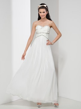 Ericdress Elegant A-Line Beading Pleats Evening Dress