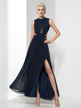 Ericdress Elegant A-Line Split-Front Backless Evening Dress