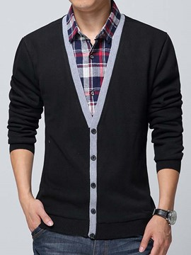 Ericdress Single-Breasted Men's Sweater Blazer