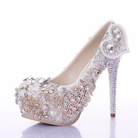 Ericdress Luxurious Diamond Pearl Wedding Shoes