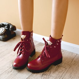 Ericdress Sweet Girl Lace-up Ankle Boots