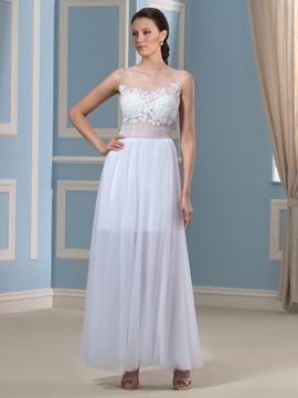 Ericdress Sexy Appliques A Line Wedding Dress