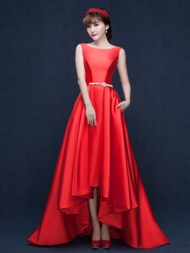 Ericdress Glamorous A-Line Beading Asymmetrical-Length Evening Dress