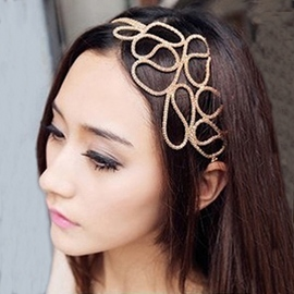 Popular Golden Weave Hollow Headband