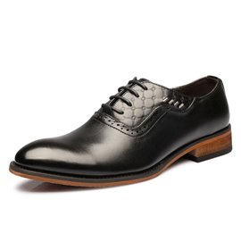 Ericdress Solid Color Patent Leather Brogue Men's Oxfords
