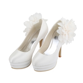 Ericdress Big Flower Decoration Wedding Shoes