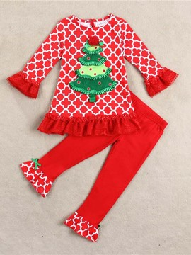 Ericdress Christmas Two-Piece Girl Outfit