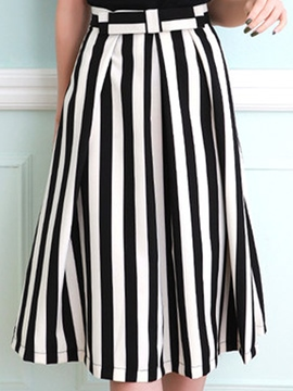Ericdress Striped Usual Skirt