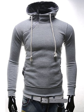 Ericdress Oblique Half Zip Thicken Unique Men's Hoodie