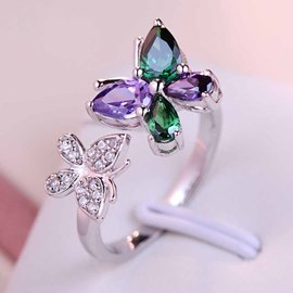 Love Butterfly Opening Ring