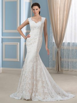 Ericdress Elegant Straps Mermaid Lace Wedding Dress