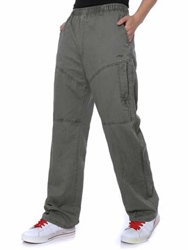 Ericdress Loose Smooth Men's Straight Large Pants