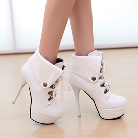 Ericdress Fashion Lace-up High Heel Boots