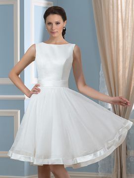 Ericdress Beautiful Bateau Knee Length Reception Wedding Dress