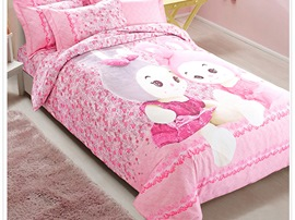 Ericdress Happiness Pink Kids Bedding Sets
